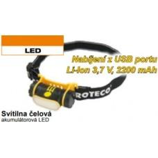 Svietidlo čelové akumulátorové LED PROTECO